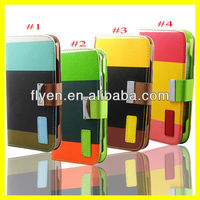 """Three Hit Color Korean Candy Series Hot Selling Wallet Case for iPhone 5 5"""" PU Leather Case Fashion Cute With Lanyard Card Slot"""