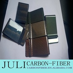 customized 3K carbon fiber money clip wallet, various color carbon fiber money clips, red color money clip