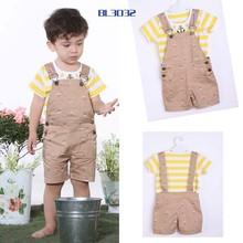 Ropa del bebé fija los niños pequeños ropa de venta al por mayor ropa Set 2 unids ropa para niños pequeños