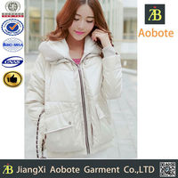 2015 New Fashion Durable White Woman Winter Coat,Fit Winter Clothing