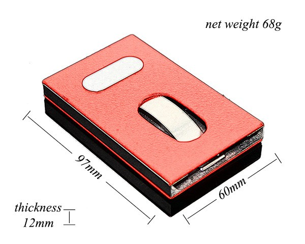 Hot new stylish design smart slide out stainless steel pocket commodity hot new stylish design smart slide out stainless steel pocket business credit card holder case leather smart card holder ch5660 colourmoves