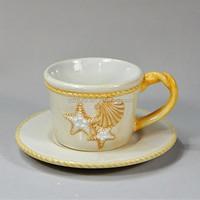 ocean design ceramic tea cups and saucers