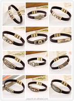 24 Styles Newest Design Leather Bracelets Handmade Coffee Straps Wholesale Jewelry Chinese bracelet popular 2015 hot sell in USA