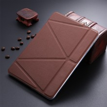 LETSVIEW Fashion Luxury Full Body Smart Flip Stand PU Leather Case Top Selling Slim Soft Clear Back Cover for Ipad Mini 1/2/3