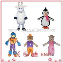 2015 mejor venta de pieles de cabra personaje de dibujos animados disfraces para adultos