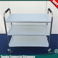 Stainless Steel Dining Cart/Food Service Cart With Wheels/Street Food Cart
