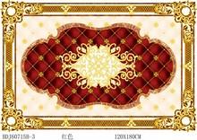 Artistic non slip porcelain floor tiles with gold