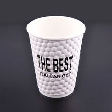 coffee paper cup 6.5oz/ 8oz hot drink paper cup/ ripple wall paper cup