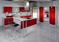 Best selling high gloss marble top mdf cabinet kitchen for home furniture