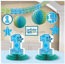 2015 Hot Sell New Birthday Greeting Party Paper 10 PC Decoration Kit