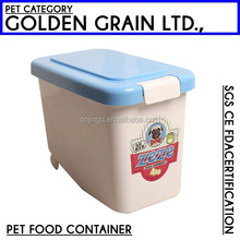 high quality dog Plastic pet food container with scoop