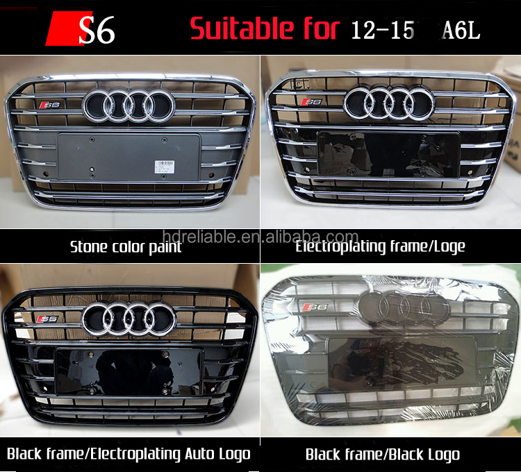 For audi a6 rs6 a6 chrome front grill for audi buy for audi