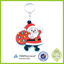 Hot sale Cheap Soft Rubber PVC Advertising Keychains in bulk