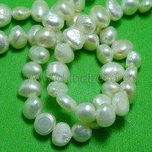 la moda blanco de agua dulce de la perla de perlas