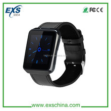 new fashion design smart watch bluetooth with heart rate monitor,1.54inch touch screen,genuine leather watchband