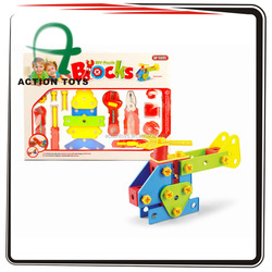 tool set toys and block set toys for children