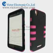 Mobile accessories Fishbone Silicon PC Combo Case for ZTE N9520 Boost Max