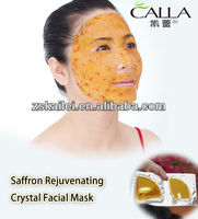Herbal treatment Natural Saffron Crystal Collagen Facial Mask