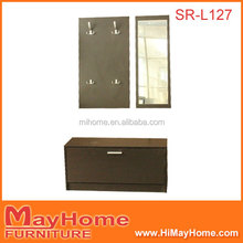 New luxury design hot sale modern items mirror shoe cabinet at hallway