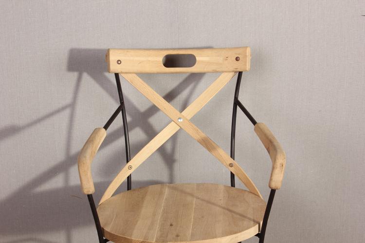 en bois fer forgé chaise avec accoudoir-chaises en métal-id de ... - Chaise Fer Et Bois