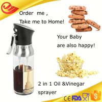 Two useful personal care plastic bottle metal stainless steel oil dispenser