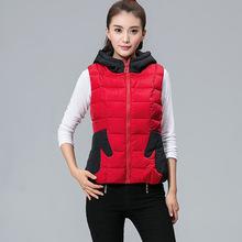 Women's black and red designer hoodies vest