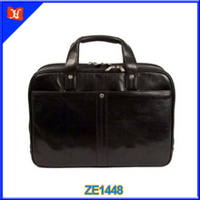 Professional Manufacturer Leather Briefcases Mens Briefcase with Secret Compartment Leather Messenger Bag Office Bags for Men