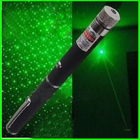 30mW green star laser pointer with star caps