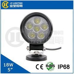Round 18w led flood light cheap motorcycle head lamp for trucks, jeeps, fire vehicles, motorcycle