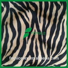 China manufacturer zebra print velvet fabric polyester