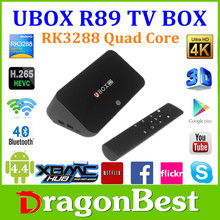 UBOX R89 Quad core google android 4.4 tv box RK3288 Bluetooth 4.0 2.4Ghz/5Ghz Band Dual WIFI