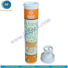 vegetables containing vitamin d tablet tube with desiccant cap and unrivalled offset printing made in GMP plant