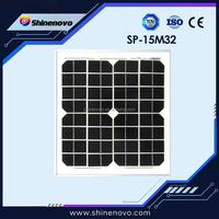 15W Mono Solar Panel Made of A-grade High Efficiency Monocrystalline Cells