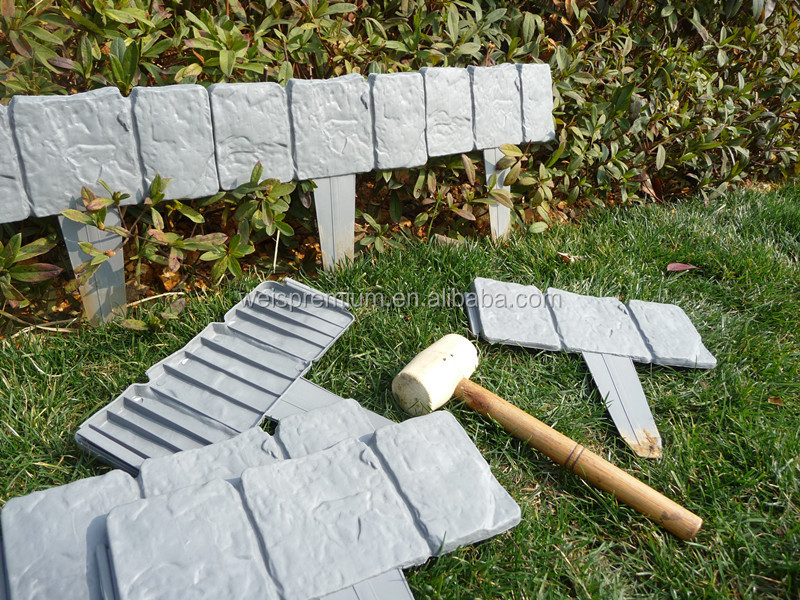 Utiles et populaire en plastique pelouse jardin bordure d for Bordurette de jardin