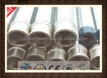 ASTM BS1387 thread erw round galvanized pipe/Threaded Pipes With Caps