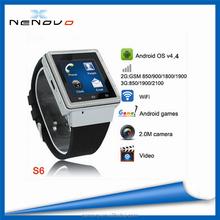 ZGPAX S6 WCDMA850/1900/2100MHZ Smart watch phone 3G Working on south america