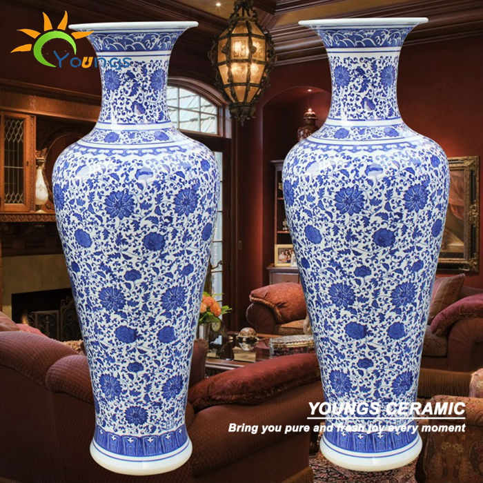 belle grande taille chinois vases d coratifs en c ramique pour d coration de la maison vases en. Black Bedroom Furniture Sets. Home Design Ideas