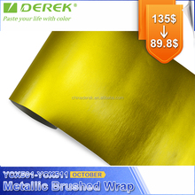 DEREK new arrival matte metallic brushed steel vinyl wrap film for car decoration