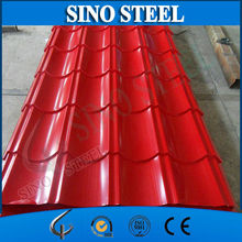 Waterproof Painted Corrugated Steel Roofing Sheets Panel / Color Coated Metal Roof