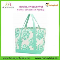 Wholesale extra large summer canvas beach pool bag