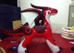 Hot sale custom giant inflatable red dragon for advertisement promotion