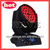 36 pcs rgbw 10w led moving head spot with zoom