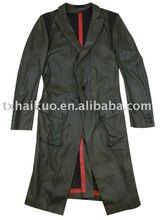 ladies long genuine sheep leather coat