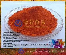 Pigmento para revestimiento uv, cadmio naranja( p. O de. 20) pigmento de plásticos