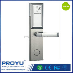 China factory Electronic Door Cylinder Lock for Hotel Room with Card swipe card hotel door lock PY-8011-4Y