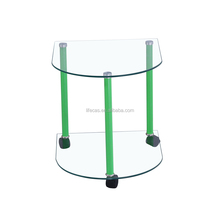 modern bedroom furniture color optional cheap glass bedside table nightstand