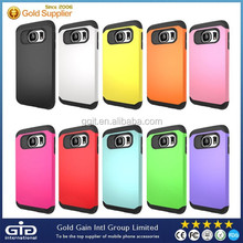 Colorful PC+TPU Case For Samsung For Galaxy S6 Hybrid Cover
