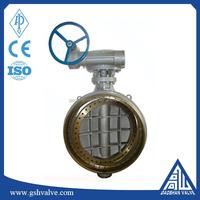 triple offset bi-directional metal seat butterfly valve