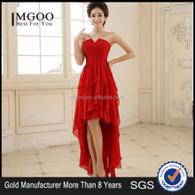 MGOO Imported Gorgeous Dress And Short Princess Red Short Front Back Long Prom Dancing Formal Dress A1012