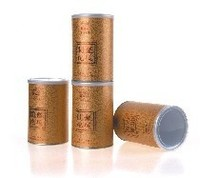 Gold stamping cylinder paper tea packing tube